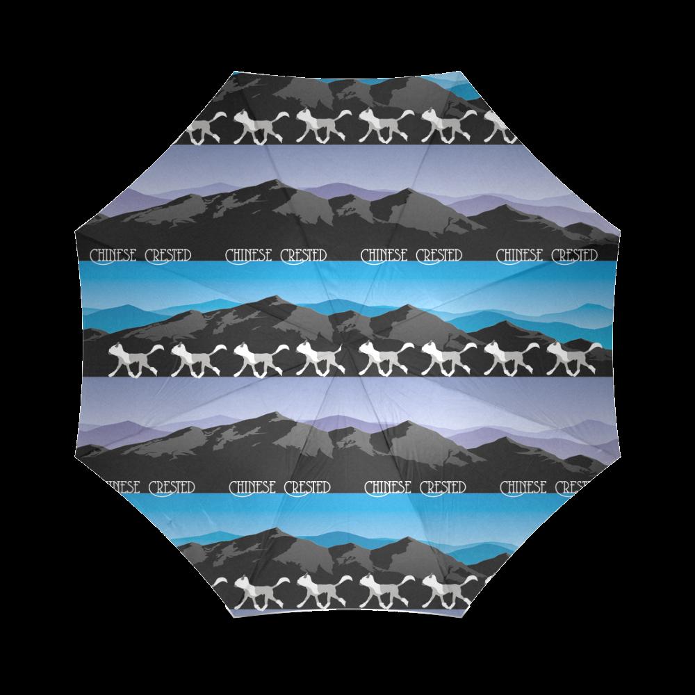 Chinese Crested Rockin The Rockies Foldable Umbrella (Model U01)