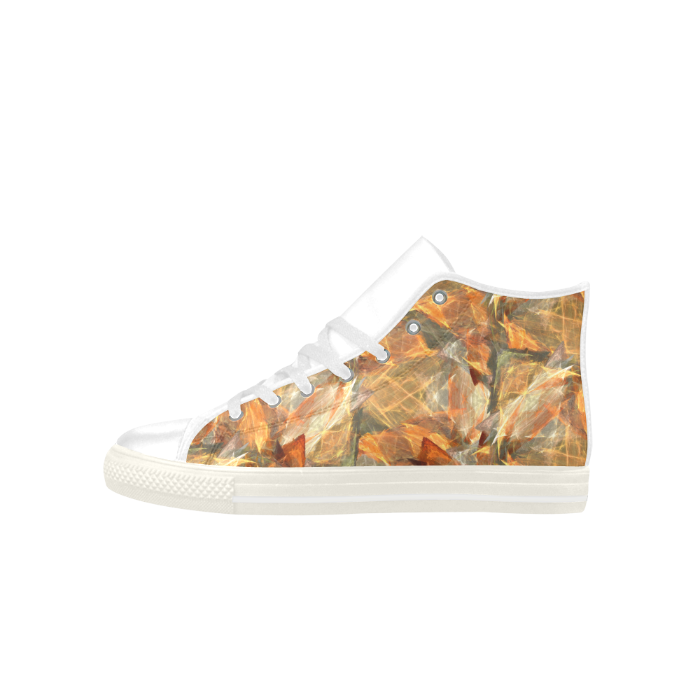 Mad Autumn Leafs Colors Aquila High Top Microfiber Leather Women's Shoes (Model 027)