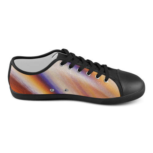 THE BIG WAVE Colorful Painting Women's Canvas Shoes (Model 016)