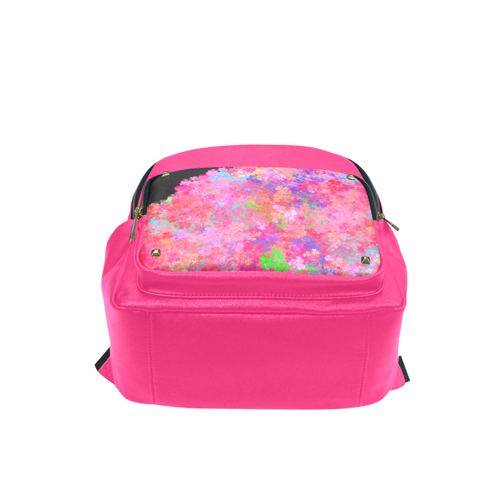 The Pink Party Colorful Splash Campus backpack/Large (Model 1650)