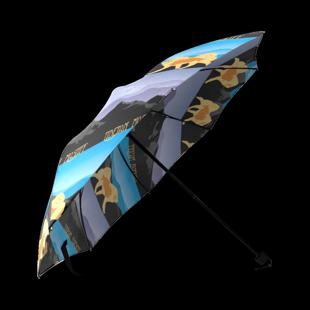 Tibetan Mastiff Rockin The Rockies Foldable Umbrella (Model U01)
