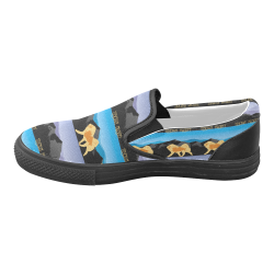 Tibetan Mastiff Rockin The Rockies Women's Unusual Slip-on Canvas Shoes (Model 019)