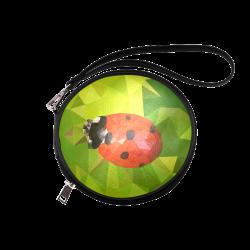 Lady Bug Round Makeup Bag (Model 1625)