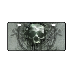 Awesome skull with bones and grunge License Plate