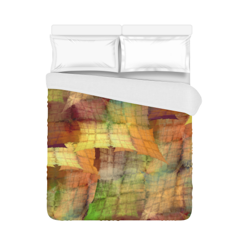 """Indian Summer Funny Check Duvet Cover 86""""x70"""" ( All-over-print)"""
