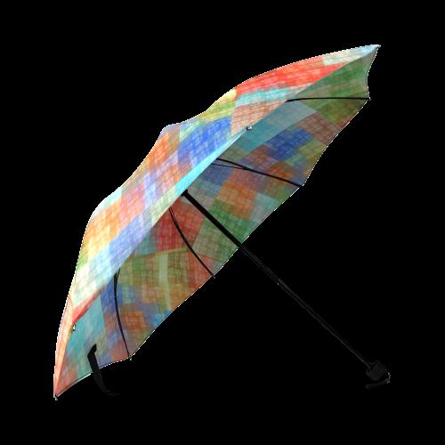 Funny Colorful Check Foldable Umbrella (Model U01)