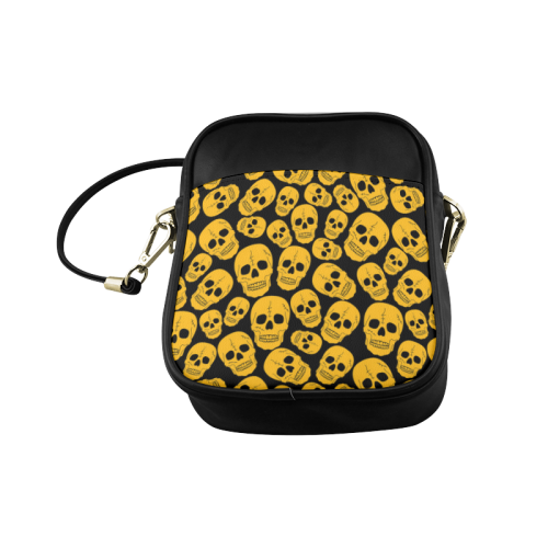 Gold Skulls Sling Bag (Model 1627)