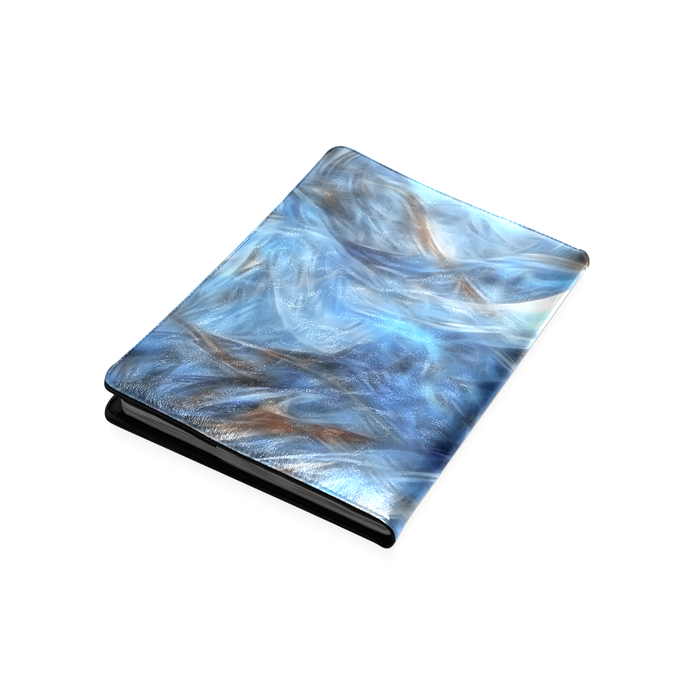 Blue Colorful Abstract Design Custom NoteBook B5