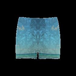 Caribbean Blue Briseis Skinny Shorts (Model L04)