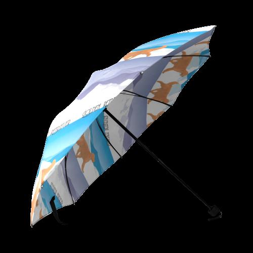 Golden Retriever Rockin The Rockies Foldable Umbrella (Model U01)