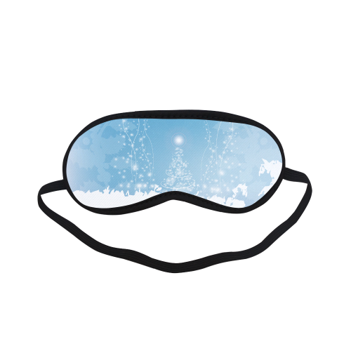 christmas design in blue and white Sleeping Mask