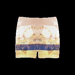 Yellow Bokeh Hearts Santa Monica Pier Briseis Skinny Shorts (Model L04)