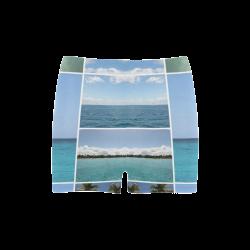 Isla Saona Caribbean Photo Collage Briseis Skinny Shorts (Model L04)