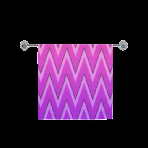 "Pink/Purple Chevron/Pattern Bath Towel 30""x56"""