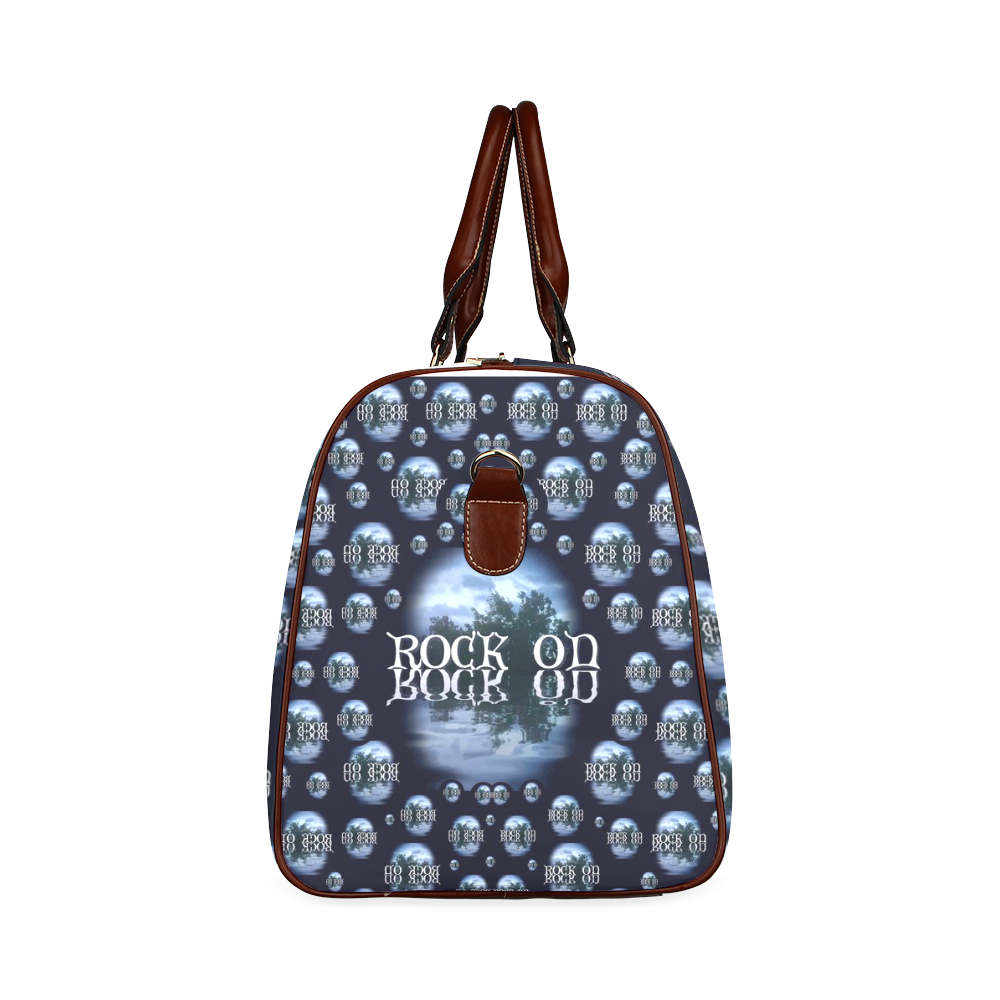 One Woman One Island And Rock On Waterproof Travel Bag/Large (Model 1639)