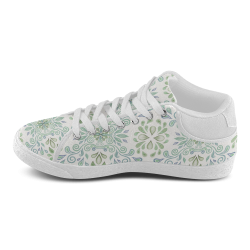 Blue and Green watercolor pattern Men's Chukka Canvas Shoes (Model 003)