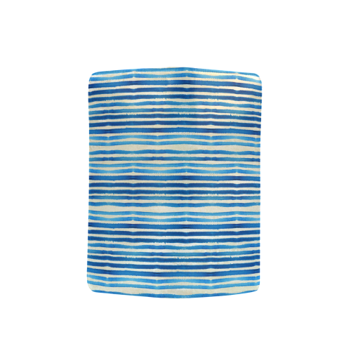 Watercolor STRIPES grunge pattern - blue Men's Clutch Purse (Model 1638)
