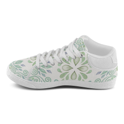 Blue and Green watercolor design Men's Chukka Canvas Shoes (Model 003)