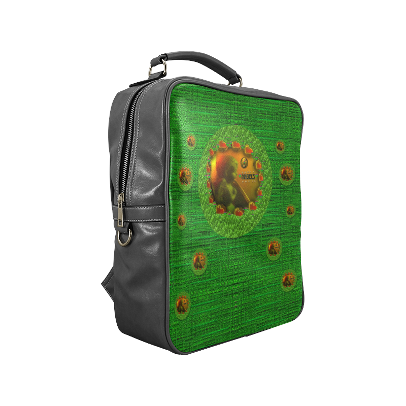 Angels watching over you in peace Square Backpack (Model 1618)