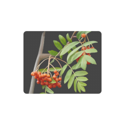 Rowan tree watercolor Rectangle Mousepad