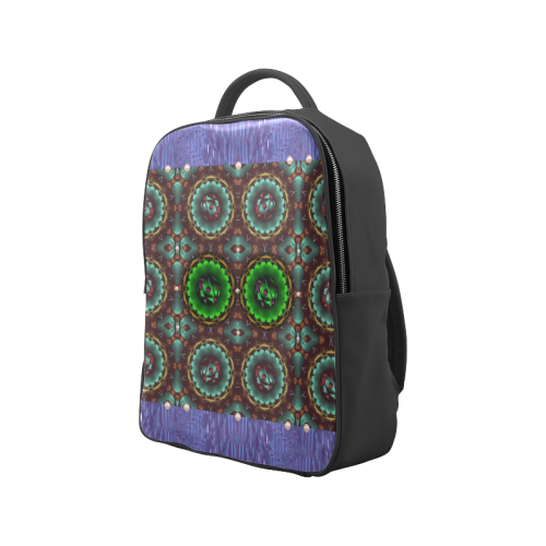 yin yang in art style and golden flowers Popular Backpack (Model 1622)