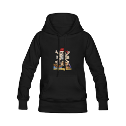 Pirate Ship, Treasure Chest and Jolly Roger Men's Classic Hoodies (Model H10)