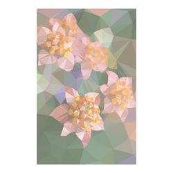 "Low Poly Flowers Poster 23""x36"""