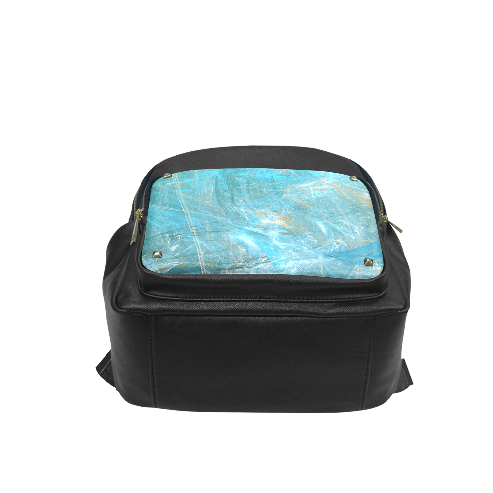 Frozen Ice Blue Fractal Campus backpack/Large (Model 1650)
