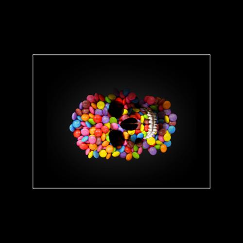 "Halloween Candy Sugar Skull Poster 18""x24"""