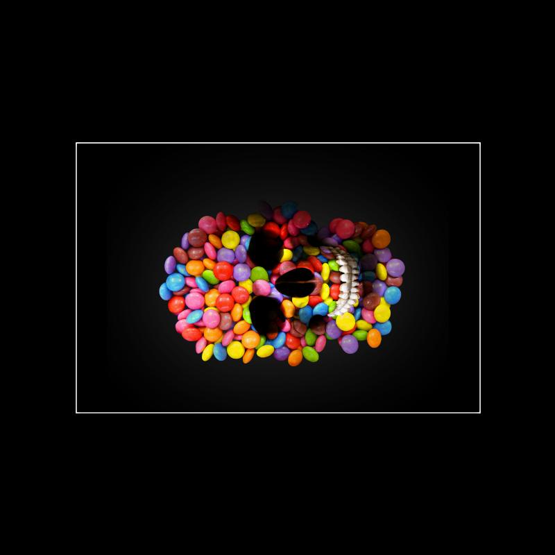 "Halloween Candy Sugar Skull Poster 16""x24"""
