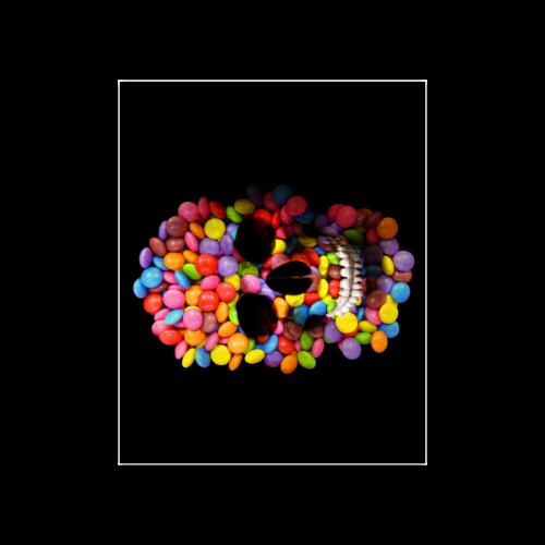 "Halloween Candy Sugar Skull Poster 20""x16"""