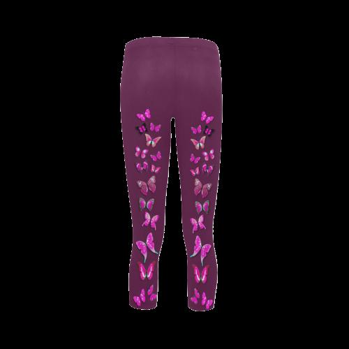 Pink Fantasy Butterflies Capri Legging (Model L02)