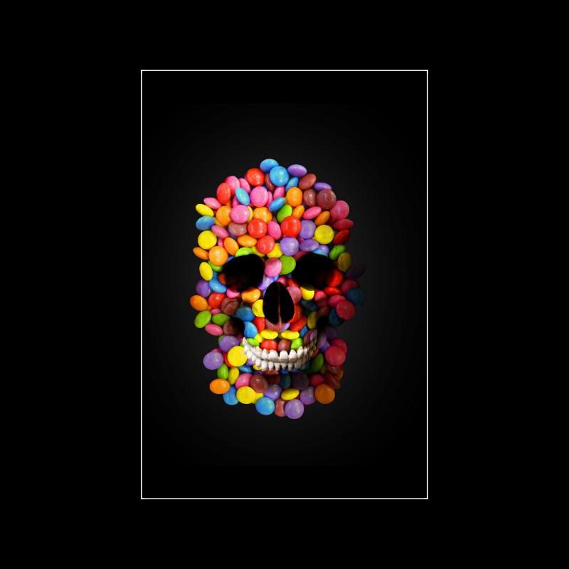 "Halloween Candy Sugar Skull Poster 20""x30"""