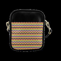 Colorful Halloween Chevron Sling Bag (Model 1627)