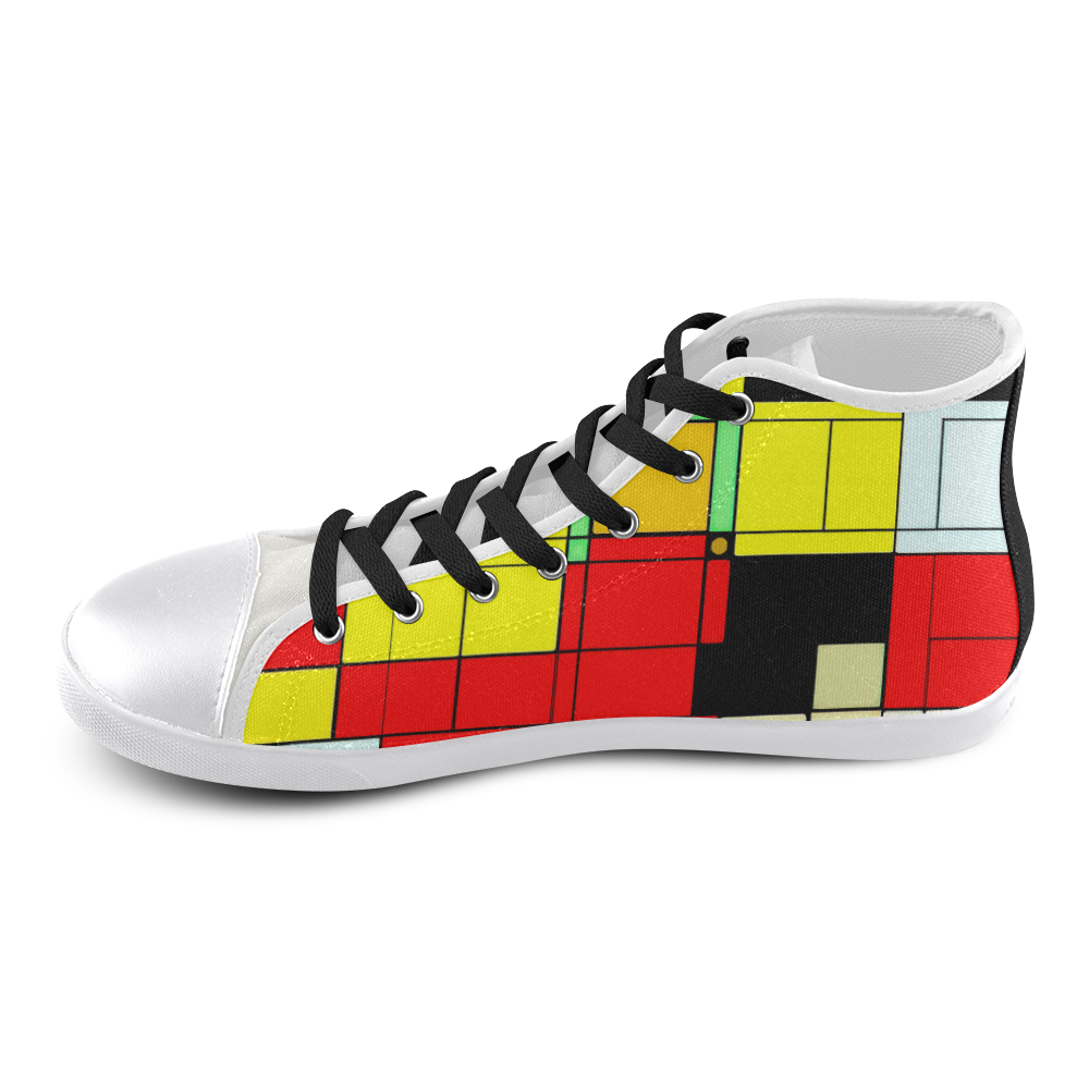 ToonTile - Jera Nour High Top Canvas Kid's Shoes (Model 002)