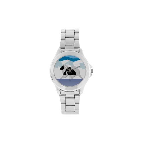 Keeshond  Rockin the Rockies 2 Unisex Stainless Steel Watch(Model 103)