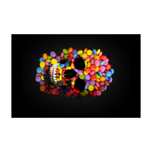 "Halloween Candy Sugar Skull Poster 22""x34"""