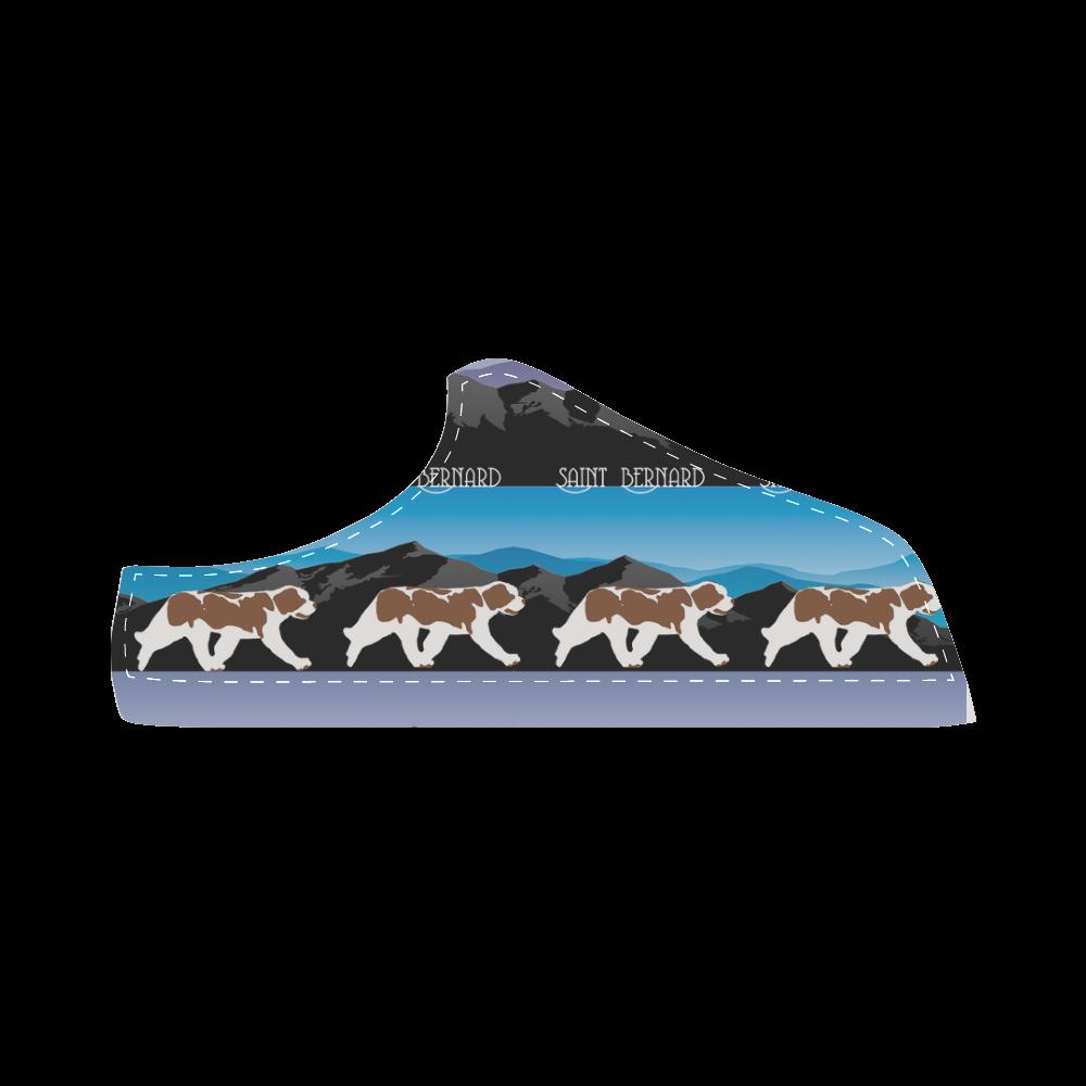 Saint Bernard Rockin The Rockies Women's Chukka Canvas Shoes (Model 003)