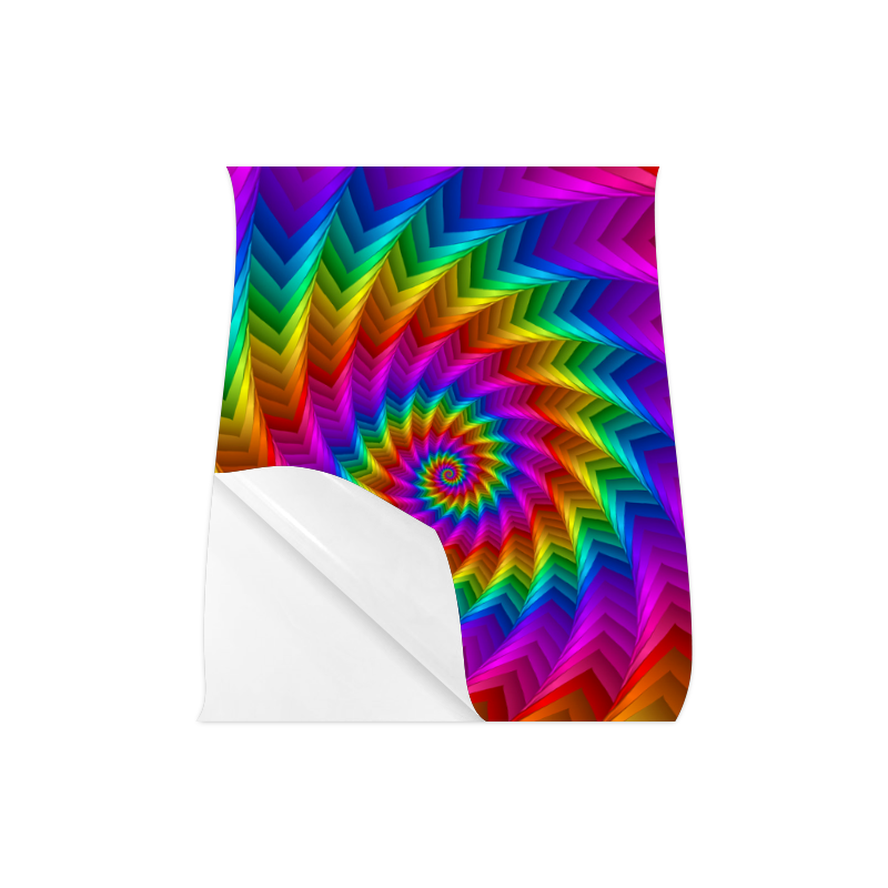 "Psychedelic Rainbow Spiral Fractal Poster 16""x20"""
