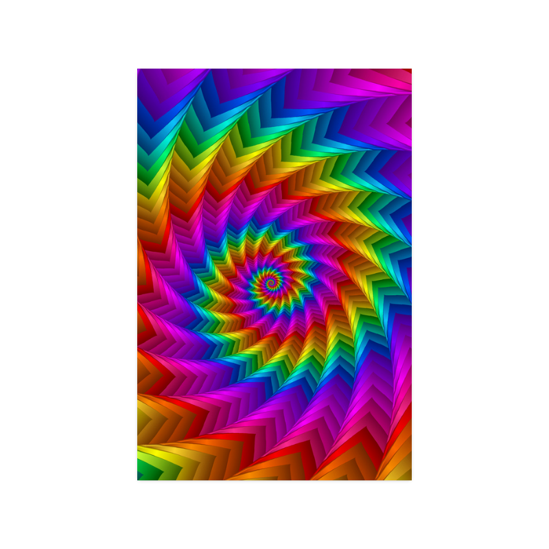 """Psychedelic Rainbow Spiral Fractal Poster 20""""x30"""""""