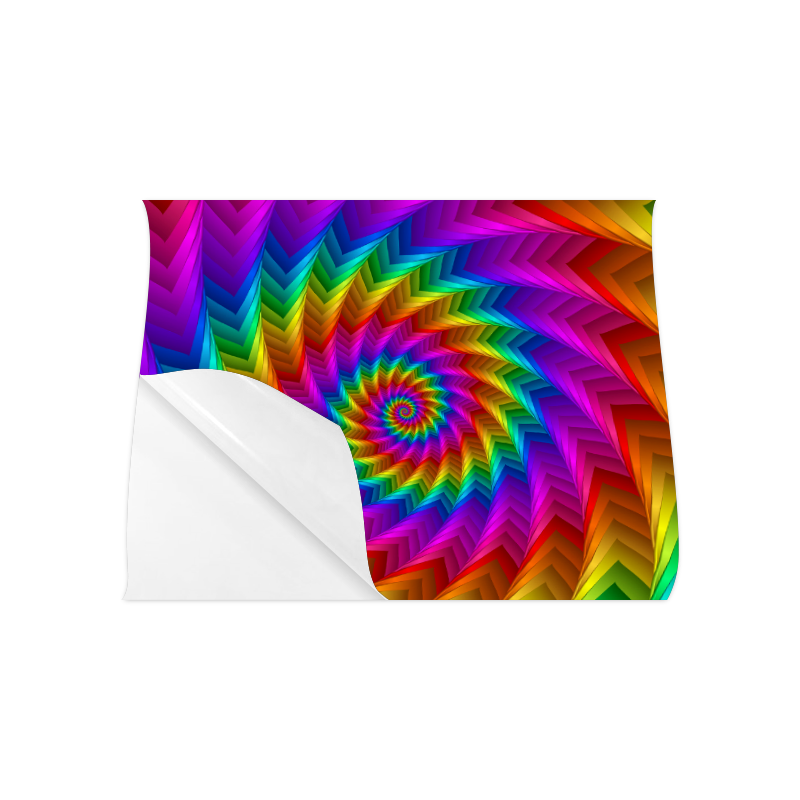 """Psychedelic Rainbow Spiral Fractal Poster 20""""x16"""""""