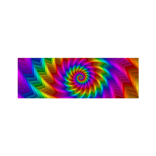 """Psychedelic Rainbow Spiral Fractal Poster 12""""x36"""""""
