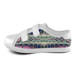 Alaskan Northern Lights Fractal Abstract Velcro Canvas Kid's Shoes (Model 008)