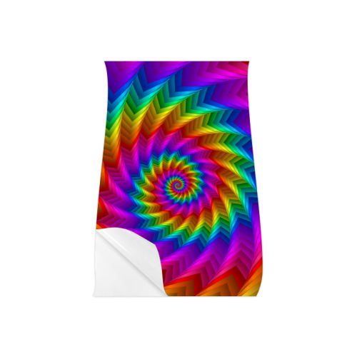 "Psychedelic Rainbow Spiral Fractal Poster 11""x17"""