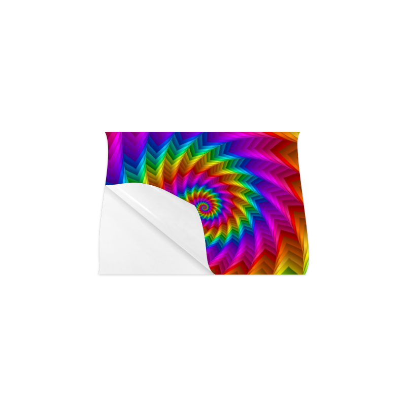 "Psychedelic Rainbow Spiral Fractal Poster 11""x8.5"""