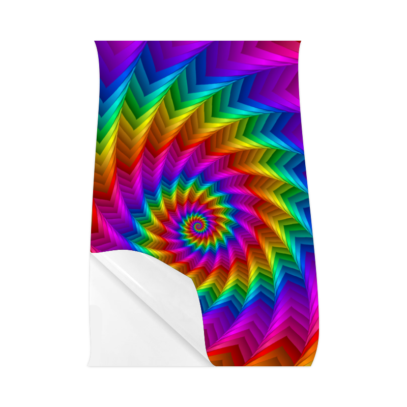 "Psychedelic Rainbow Spiral Fractal Poster 23""x36"""