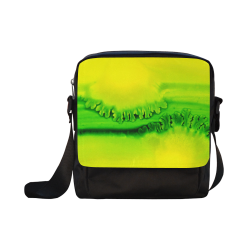 Yellow Colorbubbles Green Colorfern Crossbody Nylon Bags (Model 1633)