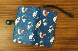 Flip Leather Purse for Mobile Phone/Small (Model 1704)
