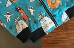 Kids' All Over Print Bomber Jacket (Model H40)