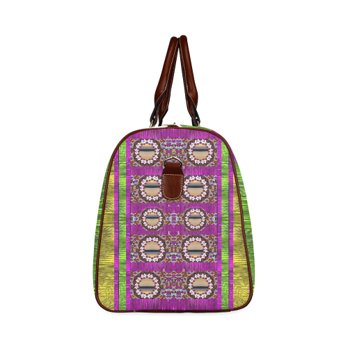 Rainbow love for the nature and sunset Waterproof Travel Bag/Small (Model 1639)